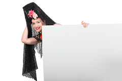 Woman in Spanish costume Stock Photo