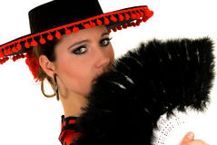 Woman Spanish dancer Royalty Free Stock Photos