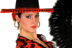 Woman Spanish dancer Stock Images