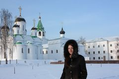 Woman in  Spasskiy monastery  in Murom Royalty Free Stock Photo