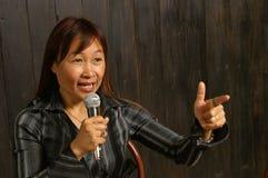 Woman speaker Royalty Free Stock Image