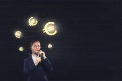 Woman speaker. Concept image Stock Image