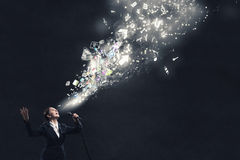 Woman speaker. Concept image Royalty Free Stock Photos