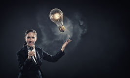 Woman speaker. Concept image Stock Images