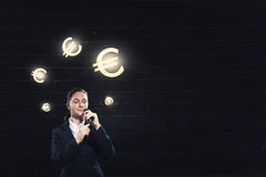 Woman speaker. Concept image Stock Photos