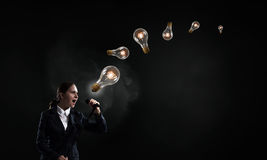 Woman speaker. Concept image Stock Photography