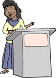 Woman Speaking at Lectern Stock Photos