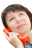 Woman, speaking on the phone. Stock Photography