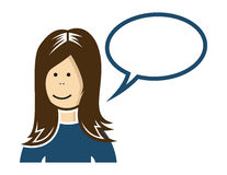 Woman speaking. Vector illustration of the woman speaking Royalty Free Stock Image