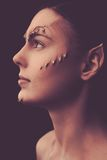 Woman with special fx make-up Stock Photos