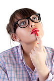 Woman in spectacles Stock Images