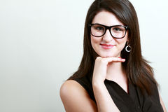 Woman in spectacles Royalty Free Stock Photos