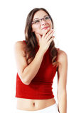 Woman in spectacles Royalty Free Stock Photo