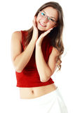 Woman in spectacles Royalty Free Stock Images