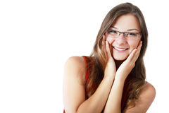 Woman in spectacles Royalty Free Stock Image