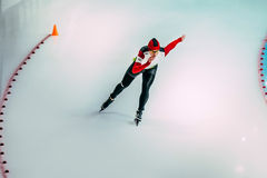 Woman speed skaters Royalty Free Stock Photography