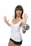 Woman with sphere Royalty Free Stock Photography