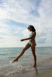 Woman Splashing Water Royalty Free Stock Photo