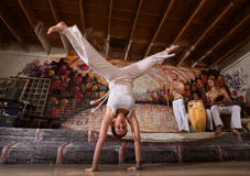 Woman in Split Handstand Stock Photos