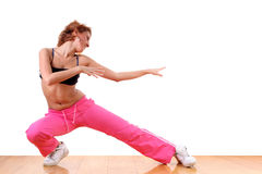 Woman sport ballet dancer Stock Images