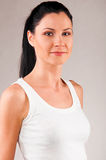 Woman sport camera smile 0121(62).jpg Royalty Free Stock Images