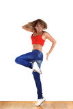 Woman sport dancer Stock Photo