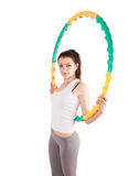 Woman sport hoop Stock Photography