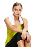 Woman After sport training Royalty Free Stock Image