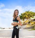 Woman in sport wear Stock Images