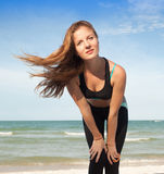 Woman in sport wear Royalty Free Stock Photography