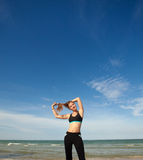 Woman in sport wear Royalty Free Stock Photos