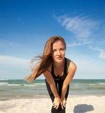 Woman in sport wear Stock Image