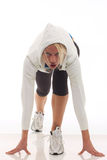 Woman in sports clothing Royalty Free Stock Images