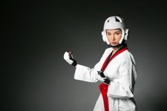 Woman in sports clothing. closeup Royalty Free Stock Images