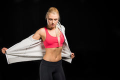 Woman in sports clothing Stock Image