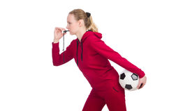 The woman in sports concept Royalty Free Stock Photos