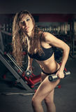 Passion woman in sports hall Royalty Free Stock Image