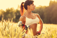 Woman sports training Royalty Free Stock Photography