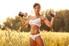 Woman sports training Royalty Free Stock Image