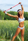 Woman sports training Royalty Free Stock Photos