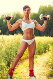Woman sports training Royalty Free Stock Photos