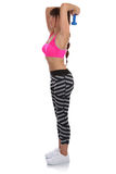 Woman at sports workout training back shoulder triceps full body Royalty Free Stock Image