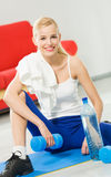 Woman in sportswear Royalty Free Stock Image