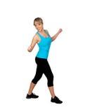 Woman in sportswear dancing Royalty Free Stock Photo
