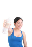 Woman in sportswear drinking water Royalty Free Stock Image