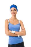 Woman in sportswear, isolated Royalty Free Stock Photography