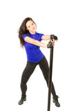 woman in sportswear working out in the gym Royalty Free Stock Photography