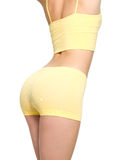 Woman with sporty buttocks and slim waistline Royalty Free Stock Image