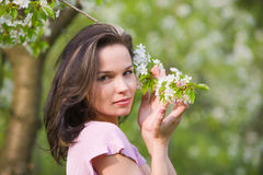 Woman at spring Royalty Free Stock Photo