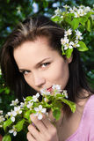 Woman at spring royalty free stock images